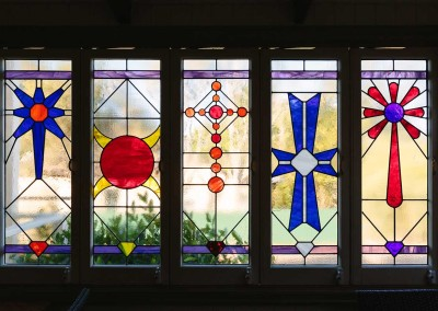 Aren't these stained glass windows beautiful!