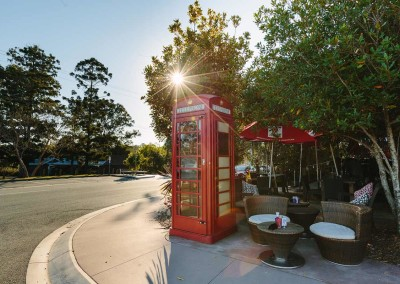 Look for our red phone box to find your way to the Flying Nun Cafe in Samford.