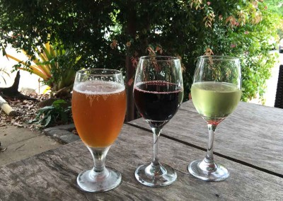 Choose from a selected range of wine and craft beers.