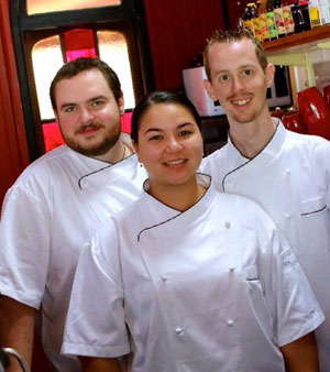 The Three Mad Chefs from the Flying Nun Cafe in Samford